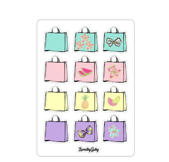 """LovedbyGaby stickers """"shoppingbags"""""""