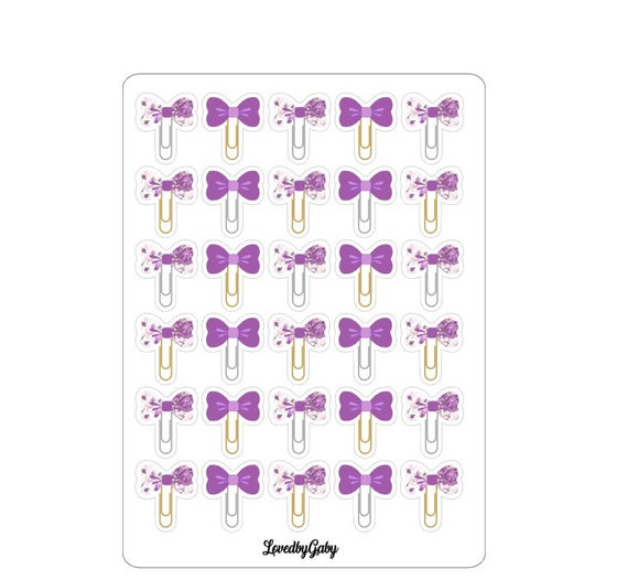 "LovedbyGaby stickes ""bowclips"""