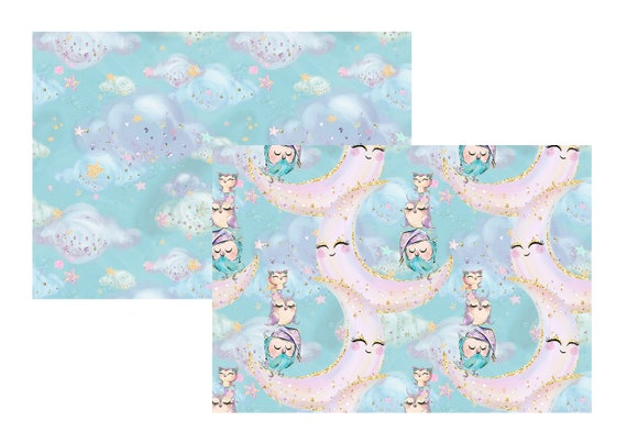 "A4 LovedbyGaby scrapbook papers ""Owls"""