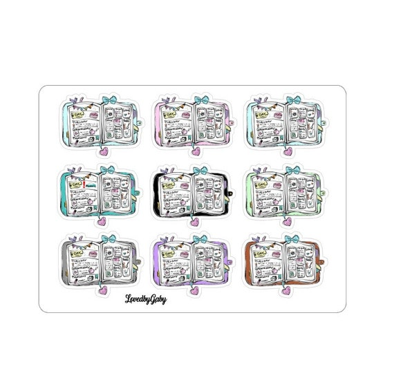 """LovedbyGaby stickers """"Planning decorations"""""""