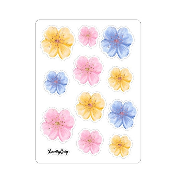 LovedbyGaby washi stickers floral