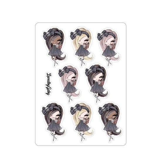 """LovedbyGaby stickers """"Trick of treat"""""""