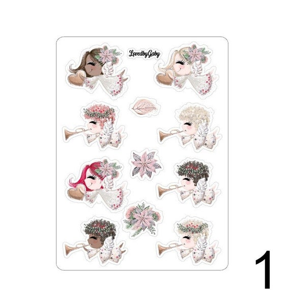 "LovedbyGaby stickers ""jolly christmas angels"""