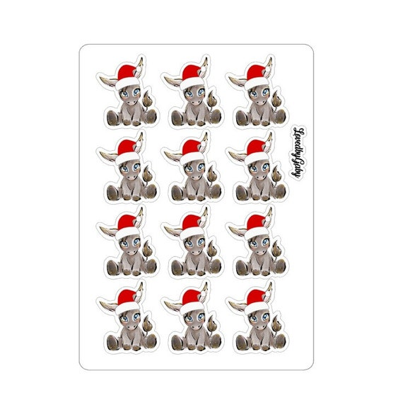 LovedbyGaby stickers Donkey halloween or christmas