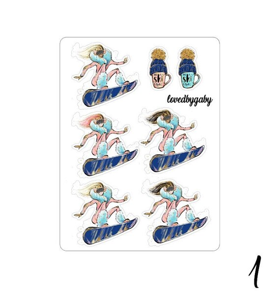 "Lovedbygaby stickers ""wintersports"""