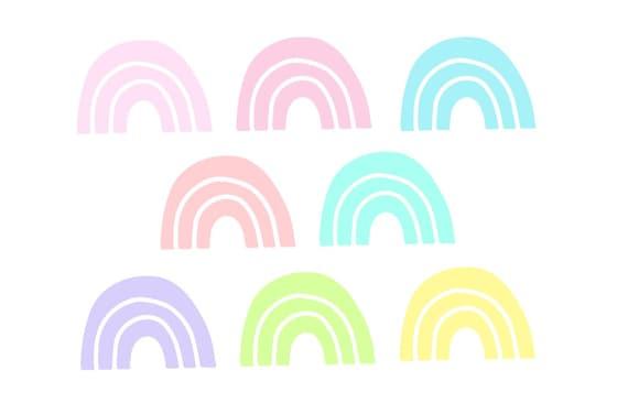 LovedbyGaby rainbow die cuts/ephemera