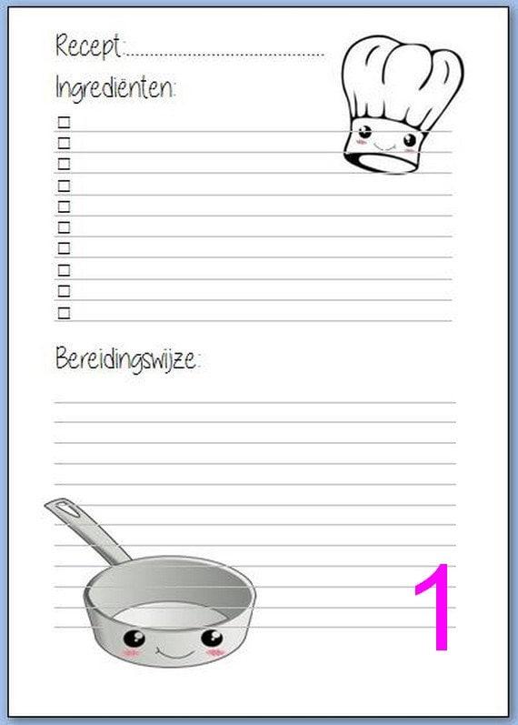 A5 Recipe Inserts