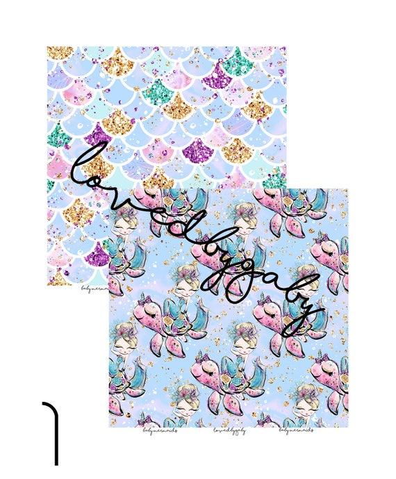 """LovedbyGaby scrapbook paper """"Baby mermaids"""""""