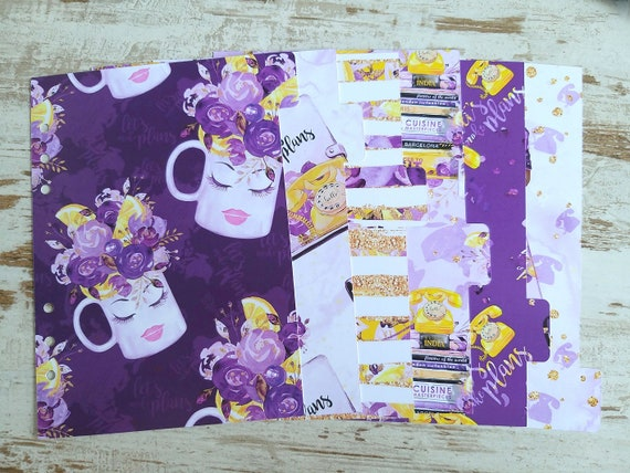 "A5 LovedbyGaby dividers ""purple mug"""