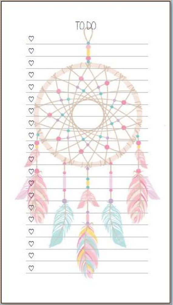 "Dreamcather ""To Do"" inserts/notepads"