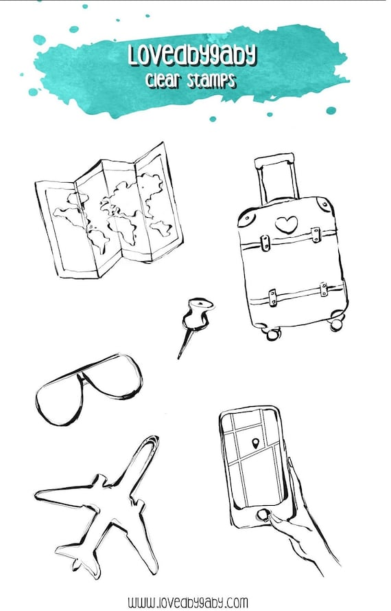 """LovedbyGaby clear stamps """"Travel 2"""""""