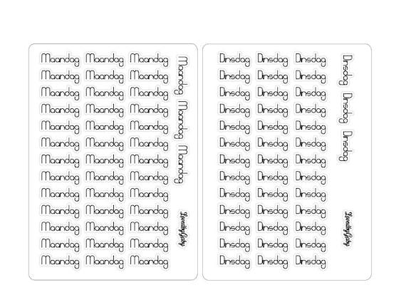 """LovedbyGaby Bujo stickers """"NL dagen"""""""