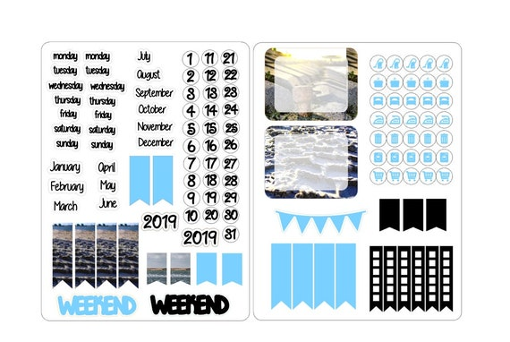 A5 deco date stickers for the classic inserts 2