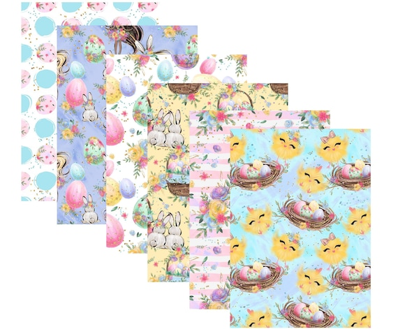 "A4 Lovedbygaby scrapbook papers ""Easter bunnies"""