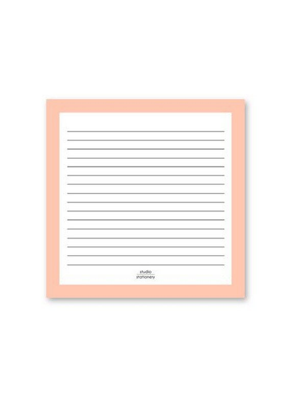 Studio Stationary Notepad Square Pink