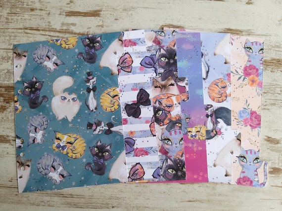 "LovedbyGaby A5 dividers ""cats"""