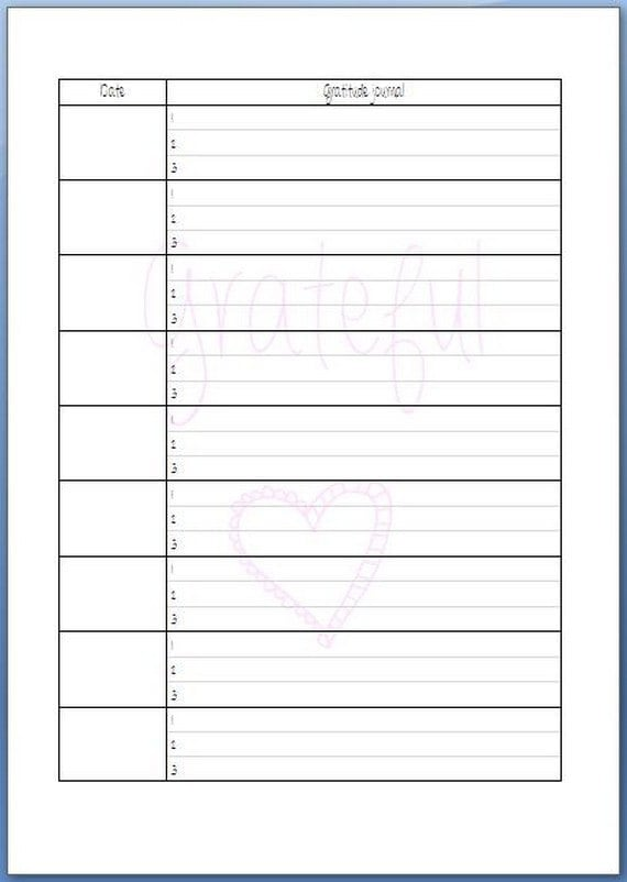 20 sheets A5 grateful journal undated