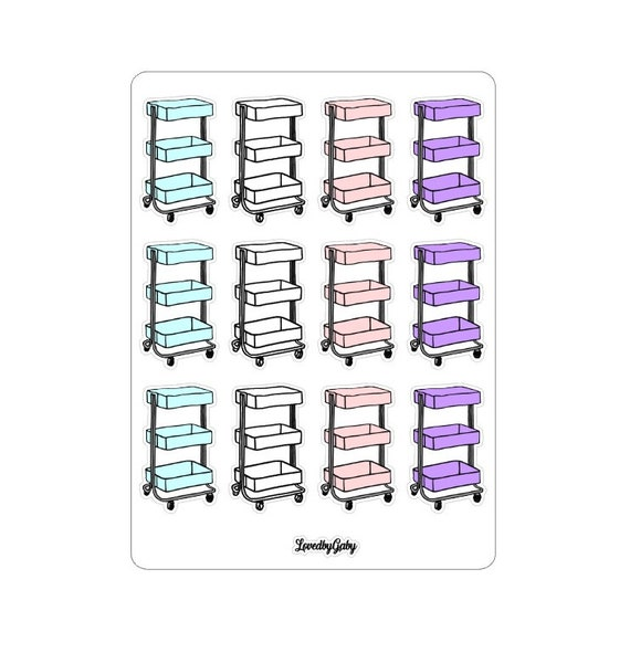 """LovedbyGaby stickers """"Craft cart"""""""