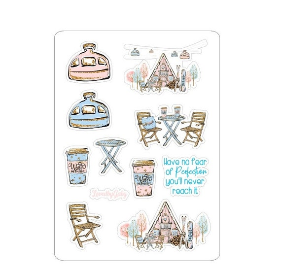 """LovedbyGaby stickers """"cabin life"""""""