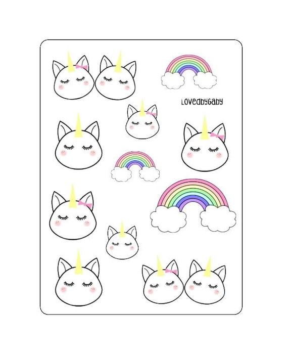 LovedbyGaby unicorn stickers