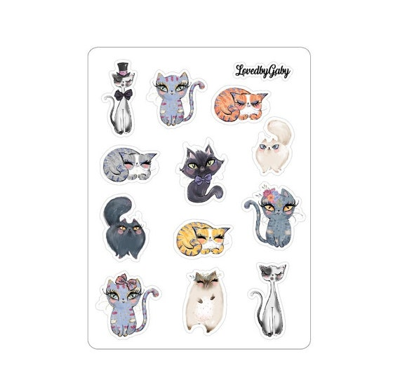 "LovedbyGaby stickers ""cats"""