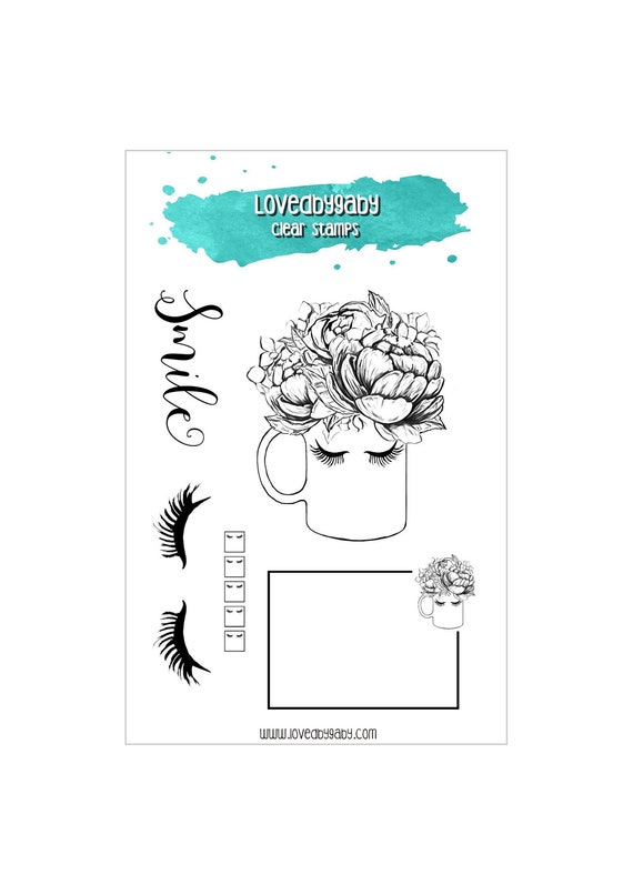 "LovedbyGaby clear stamps ""Smile"""