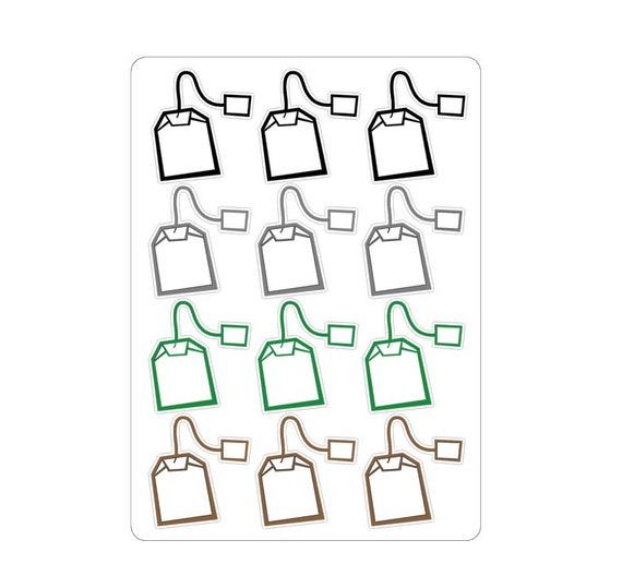 "LovedbyGaby stickers ""teabags"""