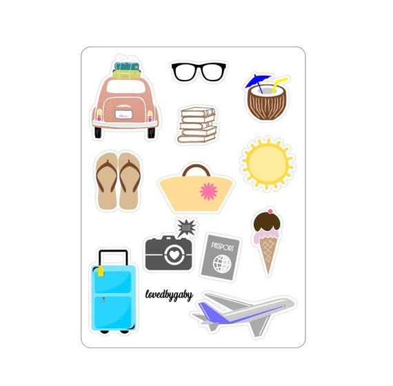 """LovedbyGaby stickers """"Vacation time"""""""