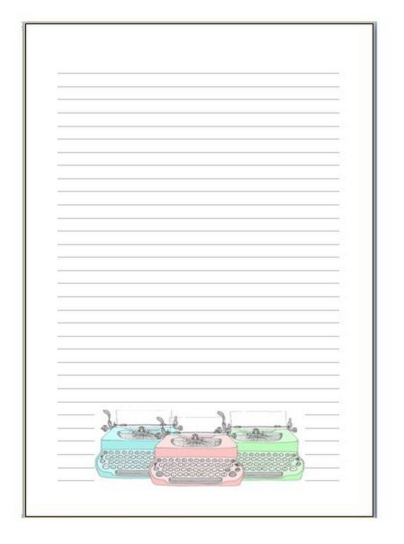 "Notepads or inserts ""typewriter"""