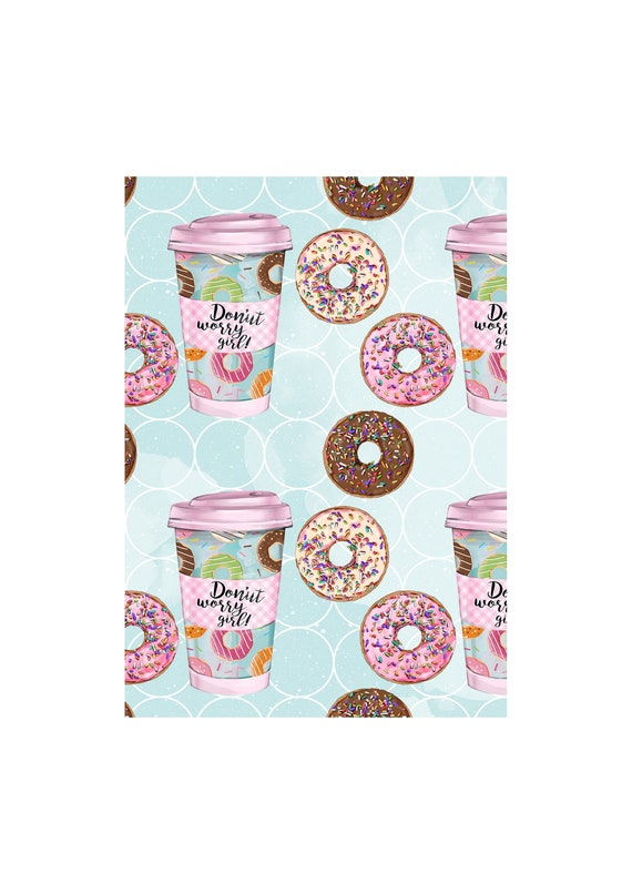 """A4 LovedbyGaby scrapbook papers """"donuts"""""""