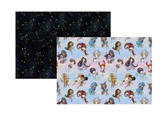 """A4 LovedbyGaby scrapbook papers """"zodiac"""""""