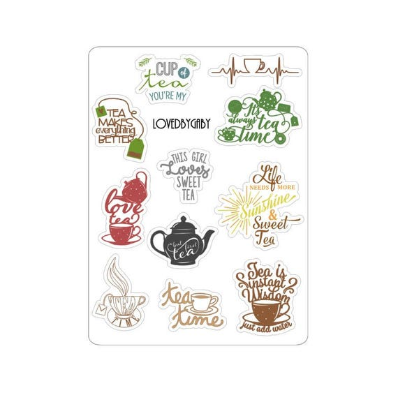 "LovedbyGaby stickers ""Tea Time"""
