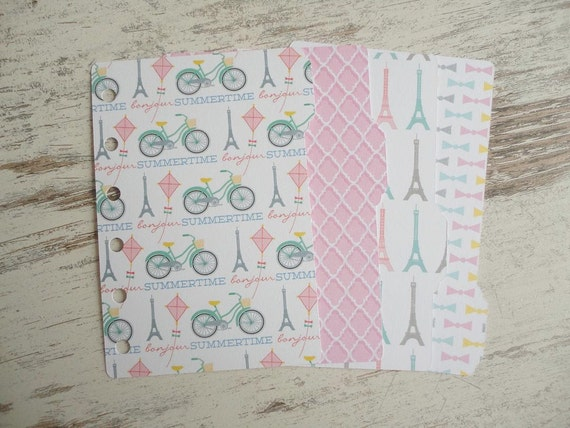 "A7 Pocket Dividers Set ""bikes in Paris"""