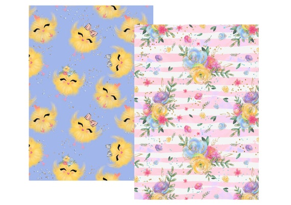 """A4 Lovedbygaby scrapbook papers """"Easter bunnies"""""""