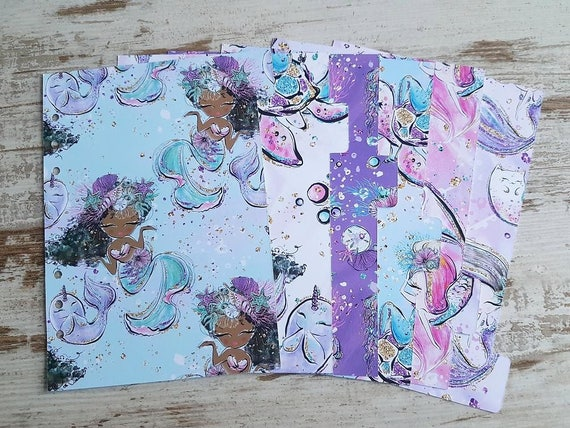 "LovedbyGaby dividers set ""Baby mermaids"""