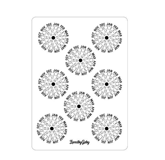 """LovedbyGaby stickers """"date circles"""""""