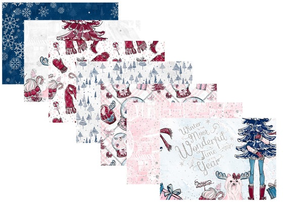 A4 LovedbyGaby scrapbook papers cosy christmas