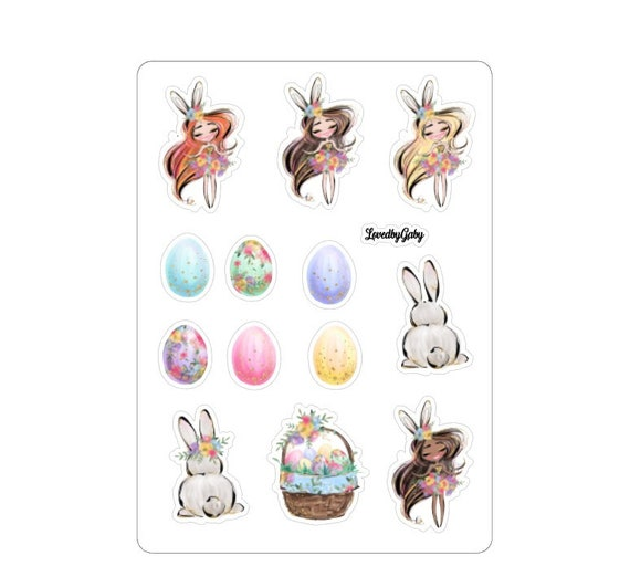 """LovedbyGaby stickers """"easter bunny"""""""