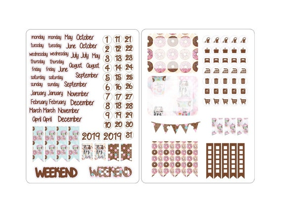 A5 deco date stickers for the classic inserts 3