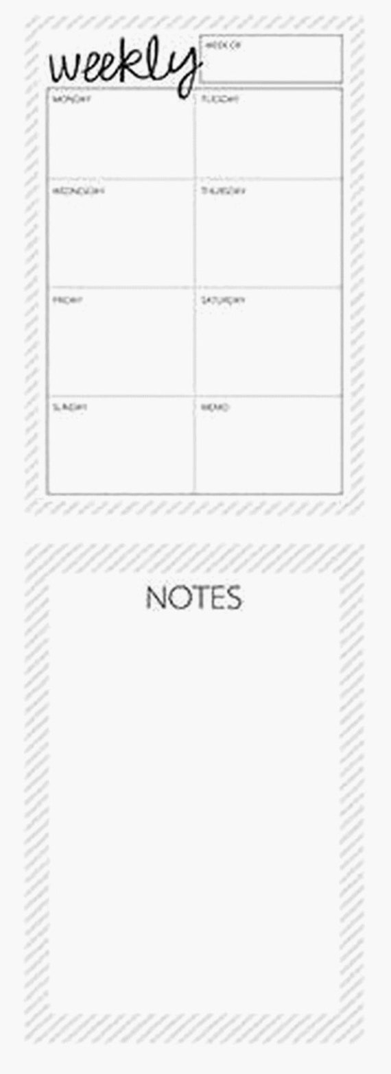 A5 Weekly notepad