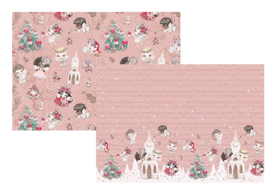 """A4 LovedbyGaby scrapbook paperset """"jolly christmas angels"""""""
