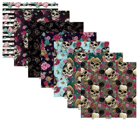 """LovedbyGaby scrapbook papers """"skulls"""""""