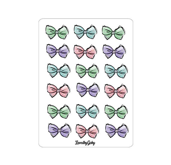 "LovedbyGaby stickers ""Pastel Bows"""