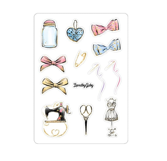 """LovedbyGaby stickers """"sewing"""""""