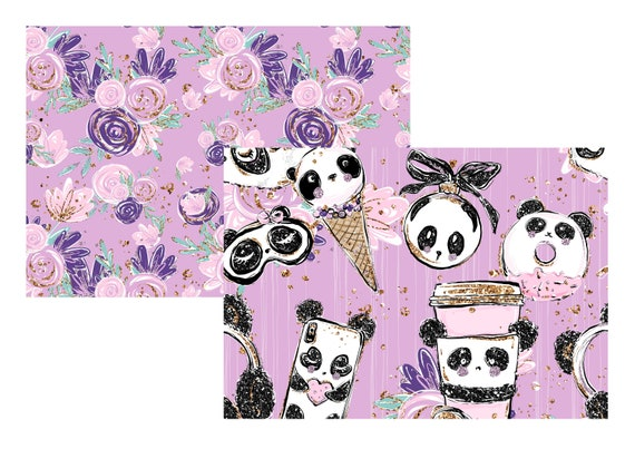 """A4 LovedbyGaby scrapbook papers """"panda chic"""""""