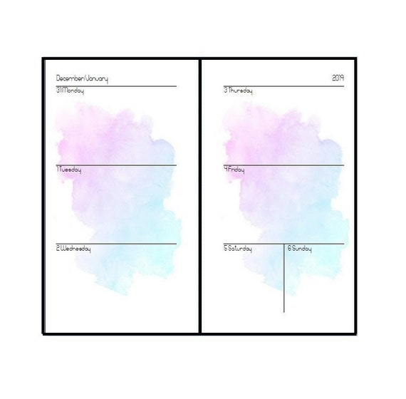 """2019 Personal inserts """"watercolors"""""""