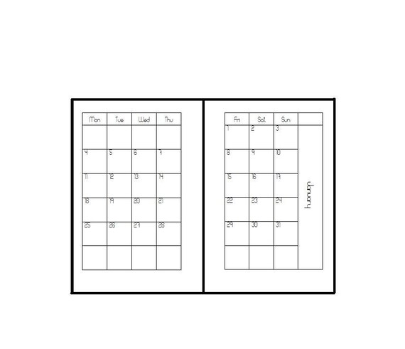 2021 Pocket/A7 inserts monthly