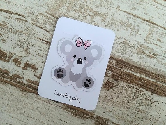 "Magnetic bookmark ""koala love"""