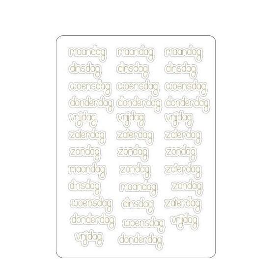 LovedbyGaby stickers dagen foil