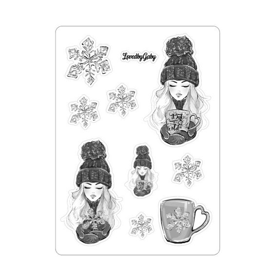 """LovedbyGaby stickers """"winter cold"""""""